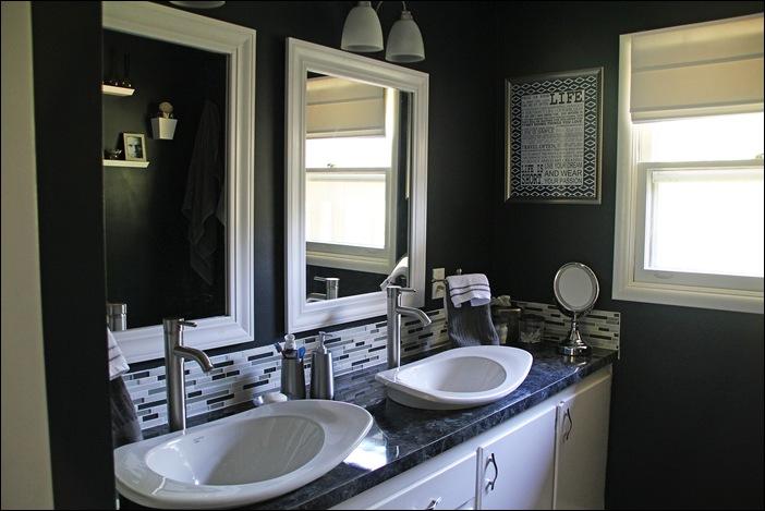 Black White Painted Bathroom Remodel