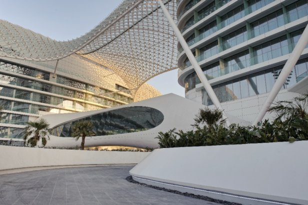 The best hotels in the world marina hotel yas island for Asymptote architecture yas hotel