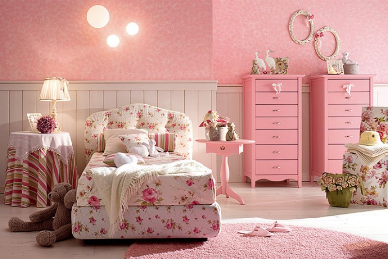 Dormitorios color rosa para ni as ideas para decorar for Muebles disney