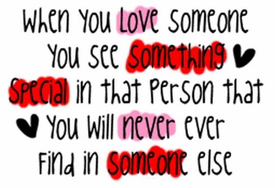 When You Love Someone You See Something Special In