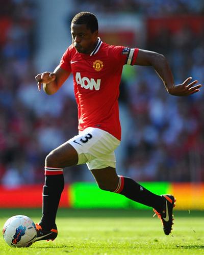 Patrice Evra Manchester United vs Norwich City