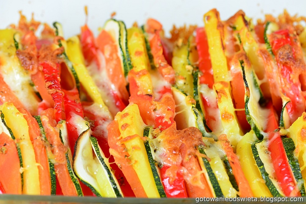 Zapiekanka warzywna po pieczeniu