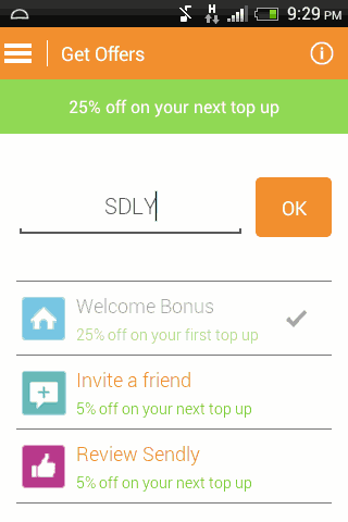 60% off on Mobile Recharge at Sendly