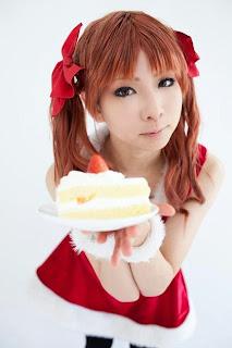 Kanda Midori cosplay as Shirai Kuroko X-Mas