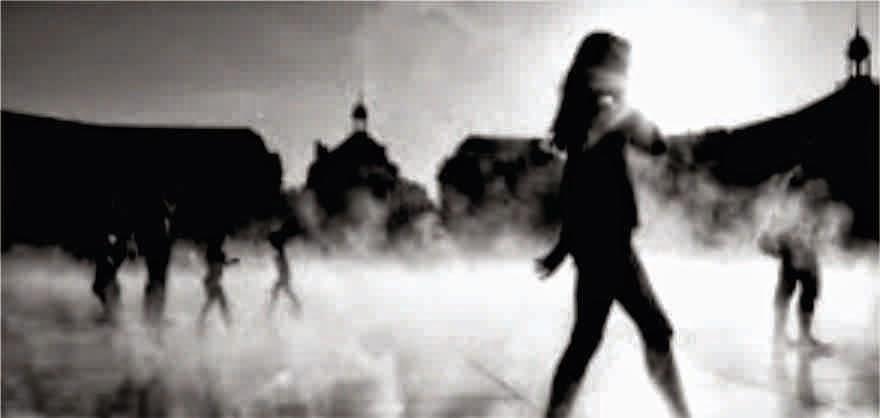 Black and White walking