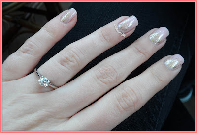 Subtle-reverse-glitter-gradient-with-Nails-Inc-Elizabeth-Street-Barry-M-Gold-Glitter-engagement-ring