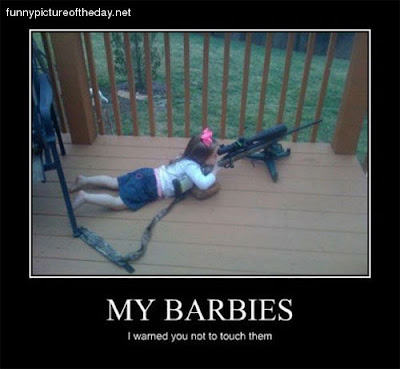 My Barbies Funny Warning Girl