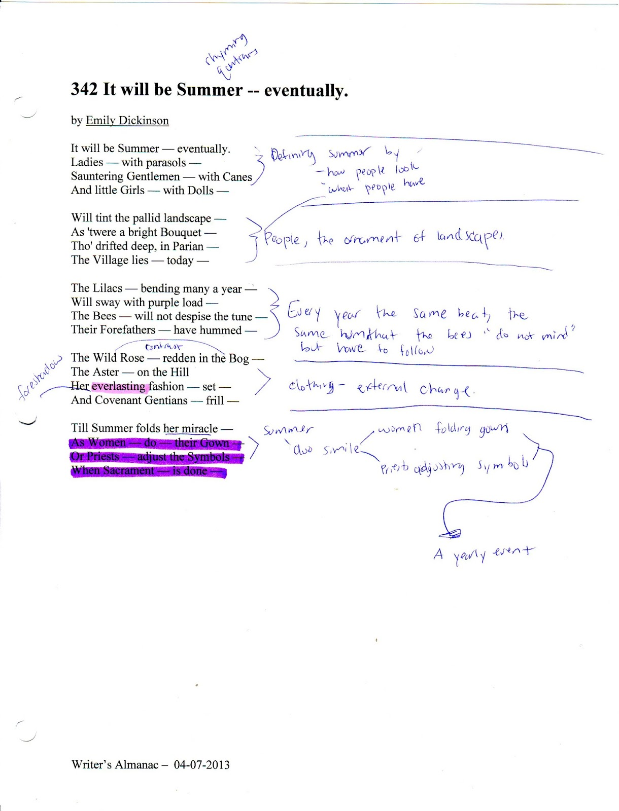Poetry/Dickinson 511 term paper 2406