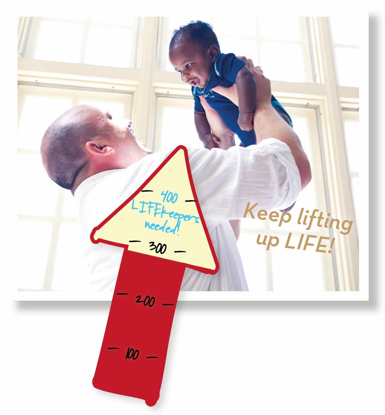 Keep lifting up LIFE!