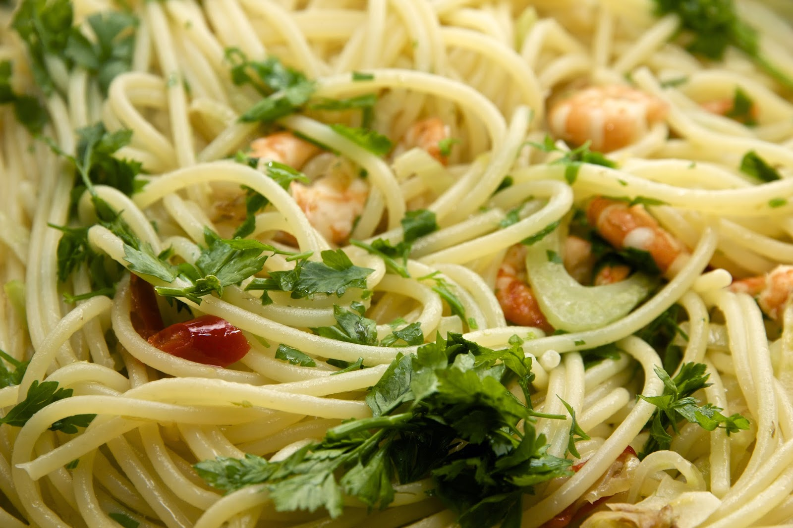 Stay-at-home-dude.com: Spaghetti with fennel and shrimps