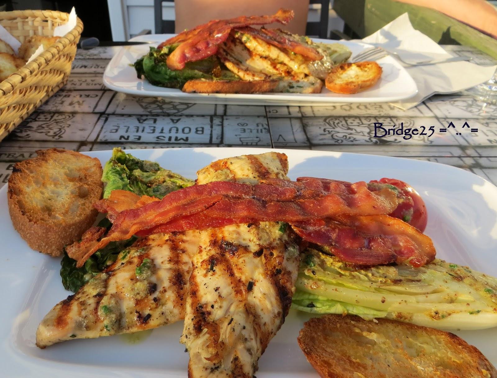 Les cinq sens escalopes de poulet et romaine grill e - Cuisine des cinq sens ...
