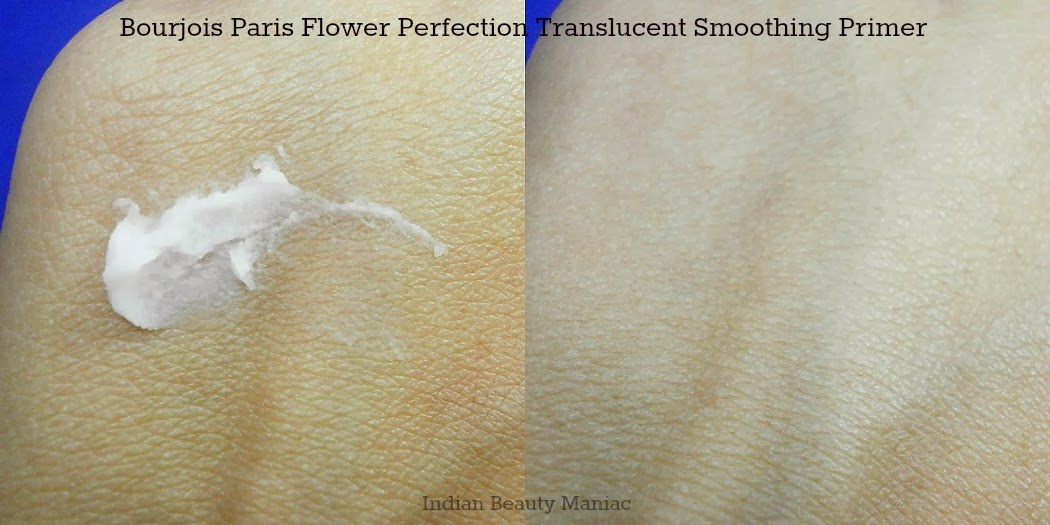 Bourjois Flower Perfection Translucent Smoothing  Primer swatch