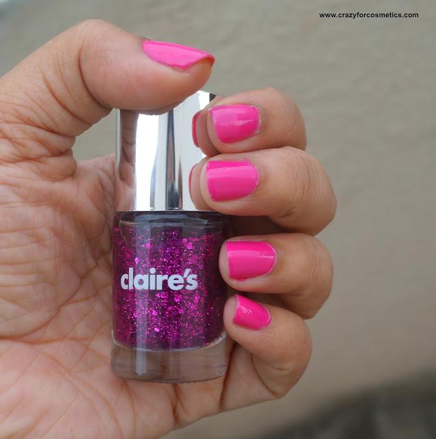 claire's glitter nail polish