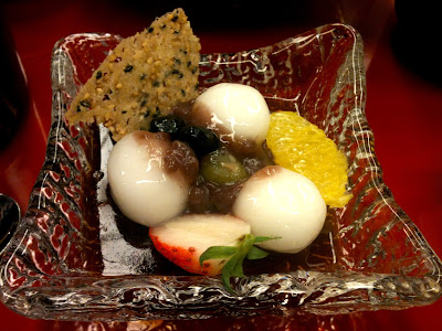 Traditional Japanese wedding ceremony sweets
