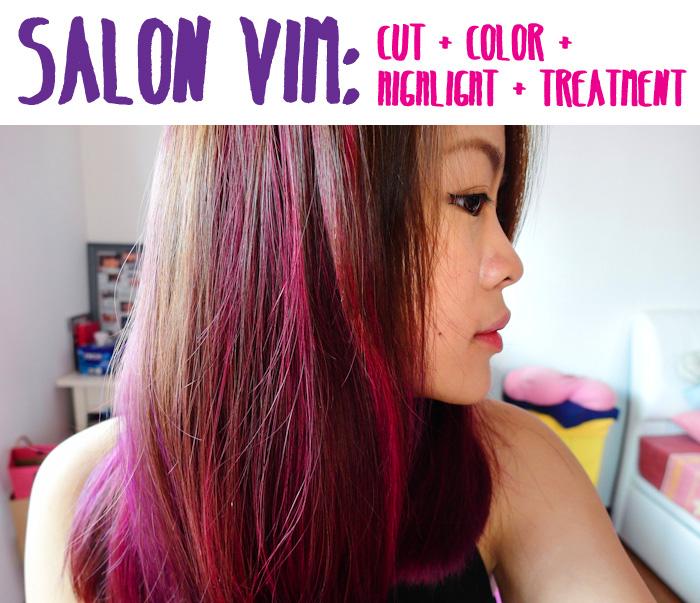 Salon Vim Lovin My Pink Purple Highlights Yina Goes