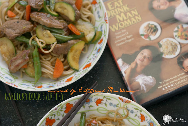 Garlicky Duck Stir-Fry inspired by Eat Drink Man Woman