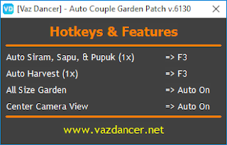Cheat Auto Garden Ayodance V6130