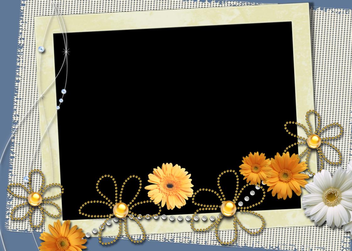 6 bellos marcos para fotograf as primaverales en png - Marco 4 fotos ...