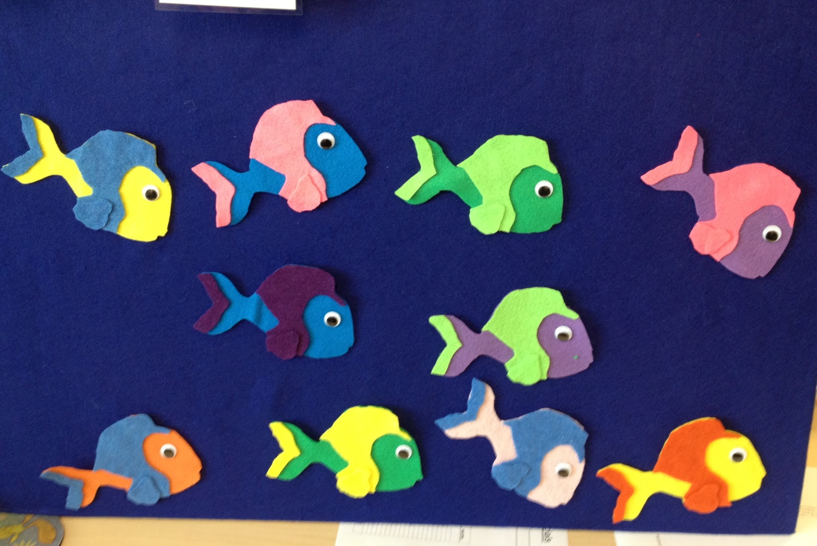 Libraryland flannel friday ten little fish for Ten little fish