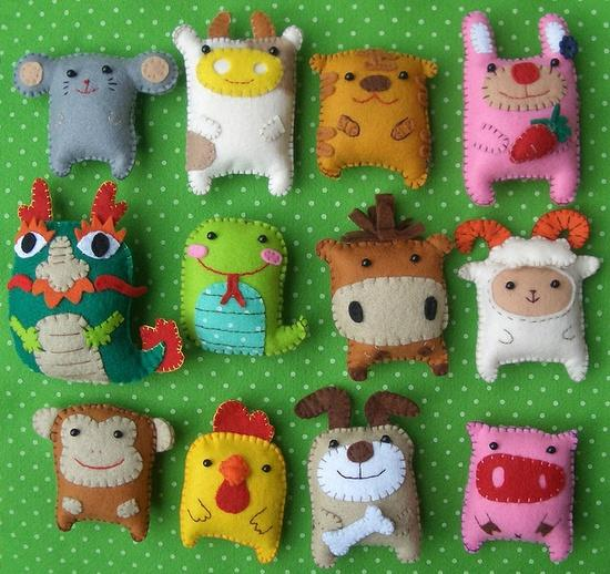 Set De Baño En Pano Lenci:Cute Felt Animals