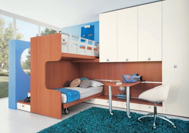 Children Bedroom With Bunk Beds Modern Home Minimalist
