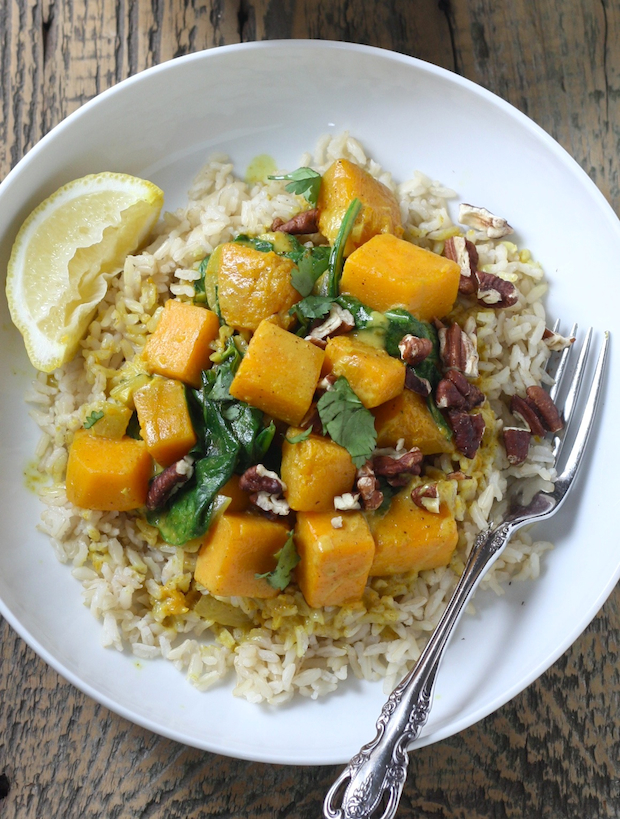 Butternut squash coconut curry recipe by SeasonWithSpice.com