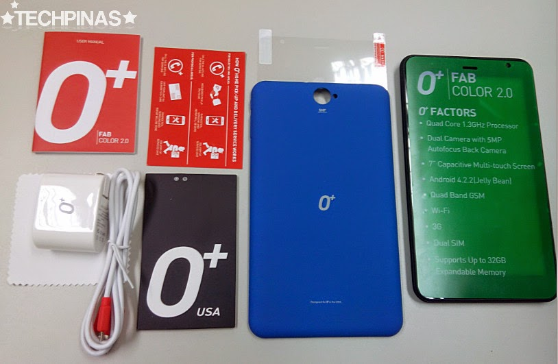 O+ Android Tablet, O+ Fab Color 2.0 Unboxing, O+ Fab Color