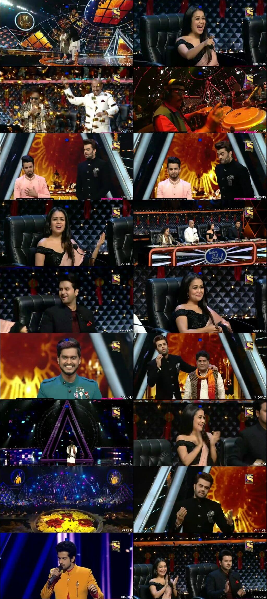 Screenshots Of Hindi Show Indian Idol 4th November 2018 Episode 36 300MB 480P HD