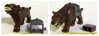 LEGO warg brown