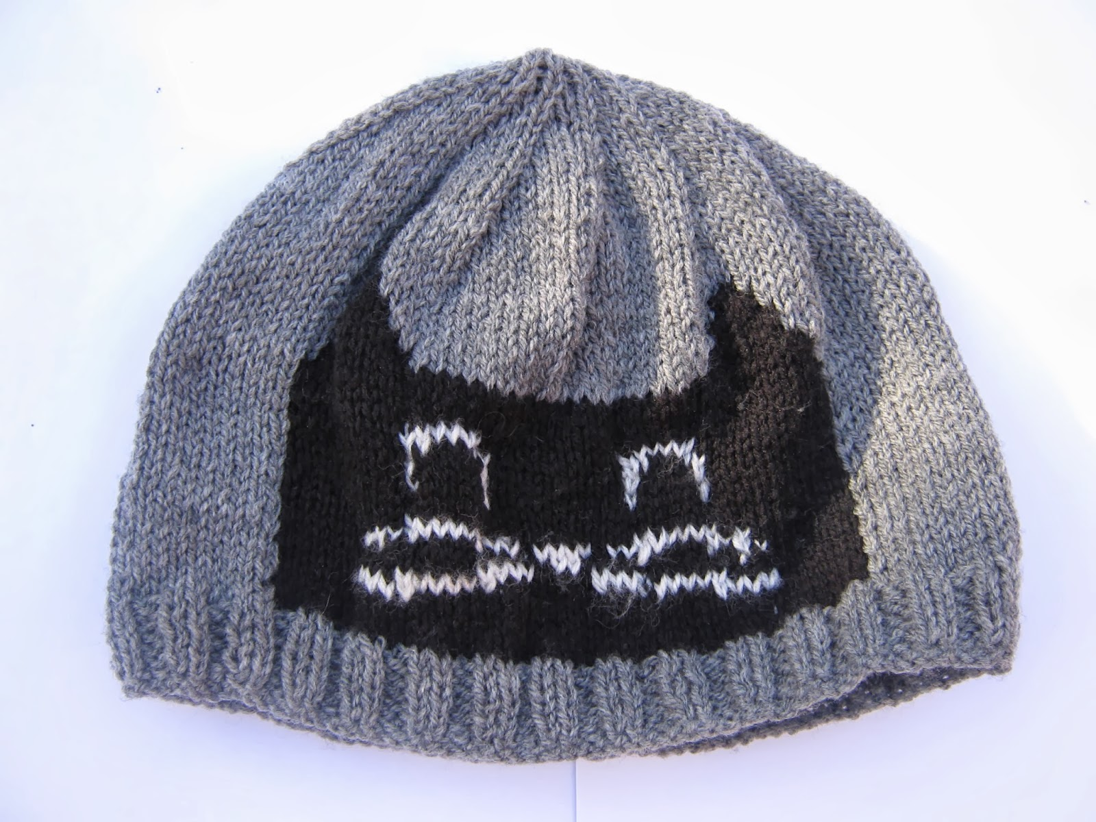 Grey and Black Cat Beanie Hat