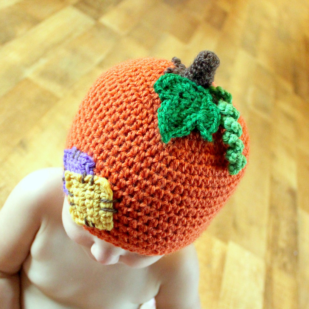 Free Pattern Crochet Pumpkin Hat : crochet baby hats-Knitting Gallery