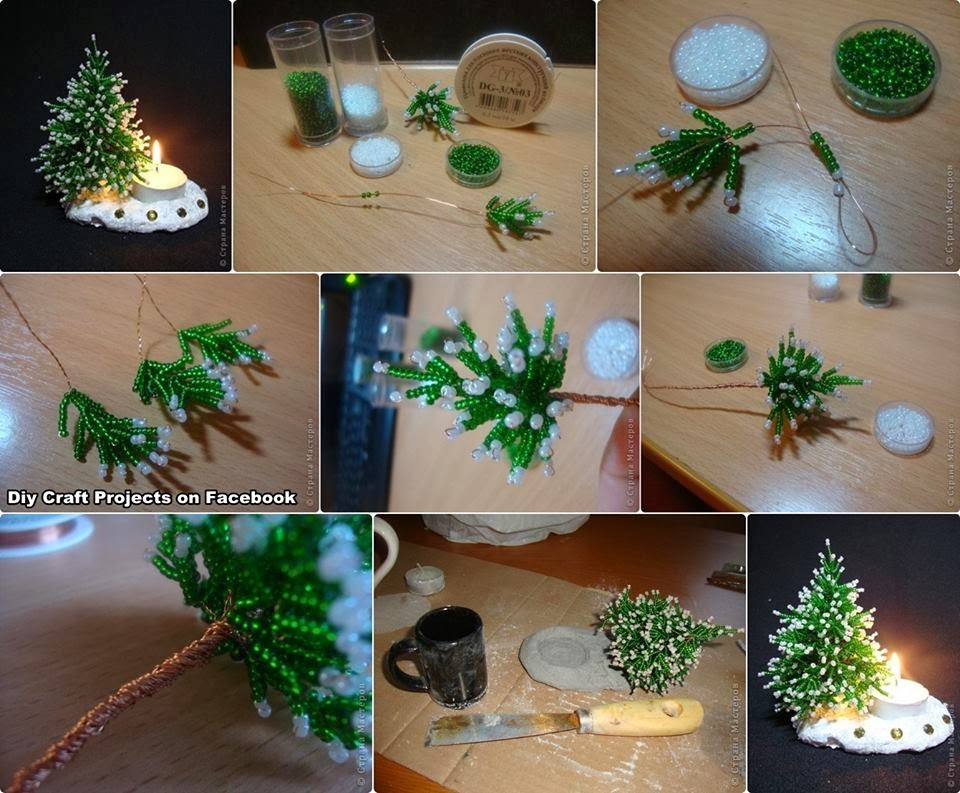 Diy Projects: Beaded Christmas Tree