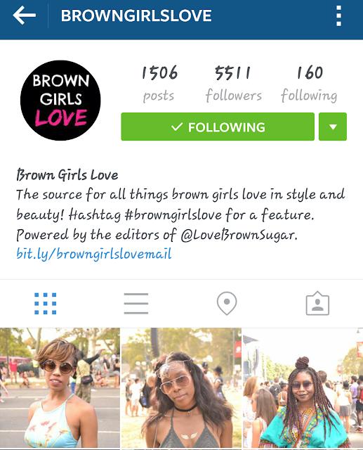 brown girls love instagram screenshot