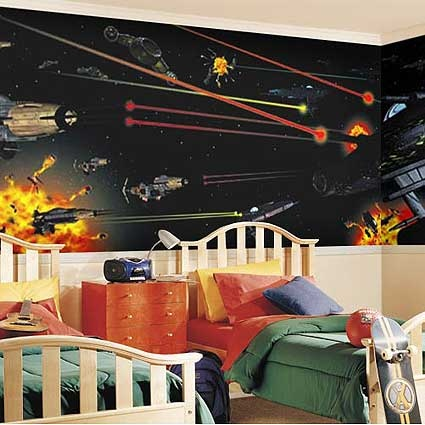 Decoraci n de dormitorios de star wars infantil decora for Decoracion de cuarto star wars
