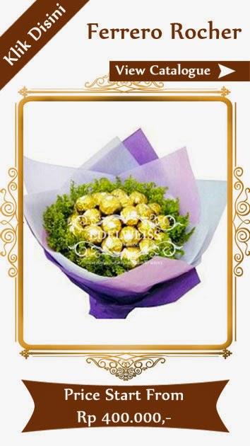bunga & cokelat ferrero rocher