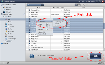 Transfer apps  between iPhone, iPad and PC