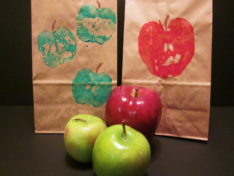 Apple Print Lunch bags