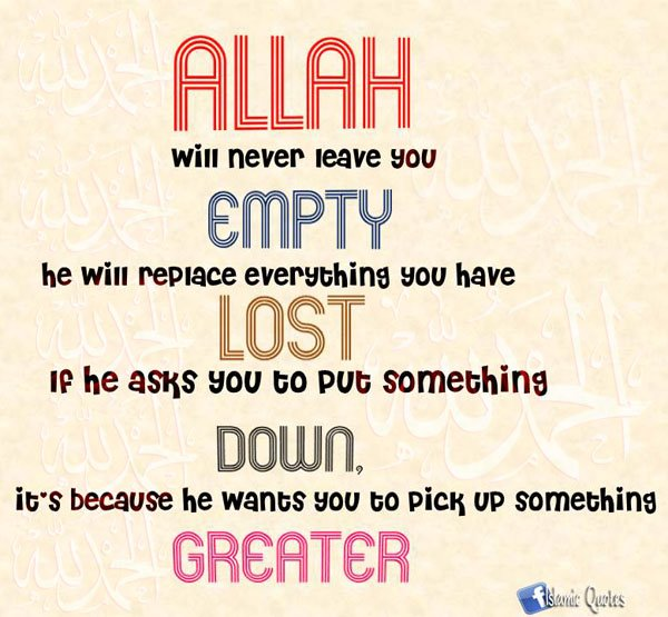 Islamic Inspirational Quotes About Life. QuotesGram