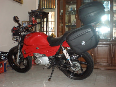 Thunder 125 touring modifikasi