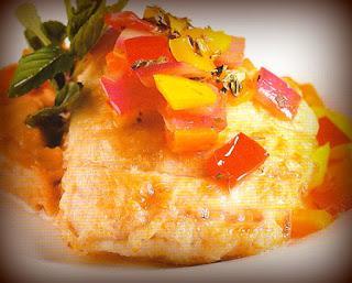 Pescado marinado con yuca