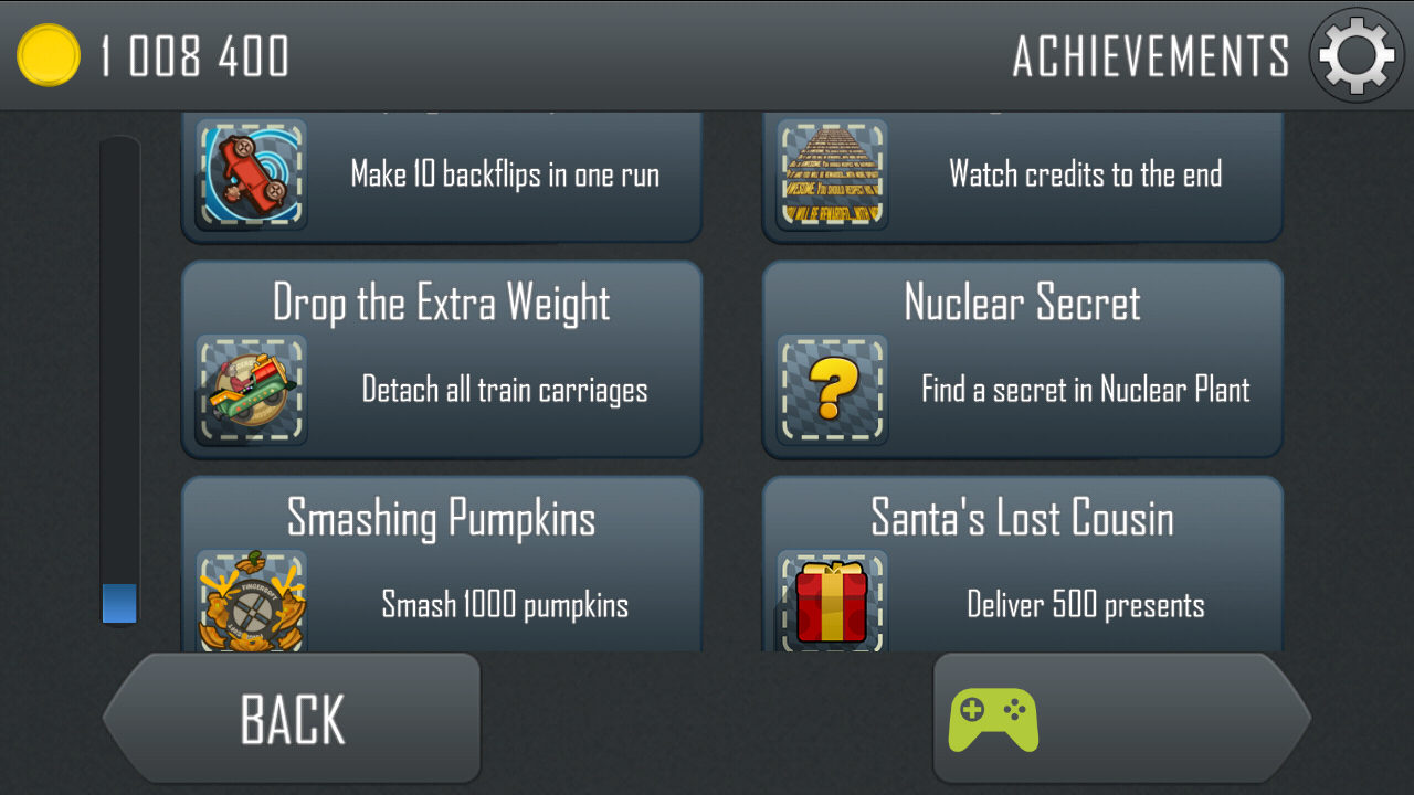 information hill climb racing secret achievements list here are the screenshots of the achievements