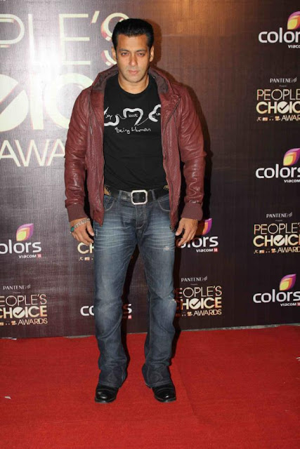 Salman Khan at People's Choice Awards 2012
