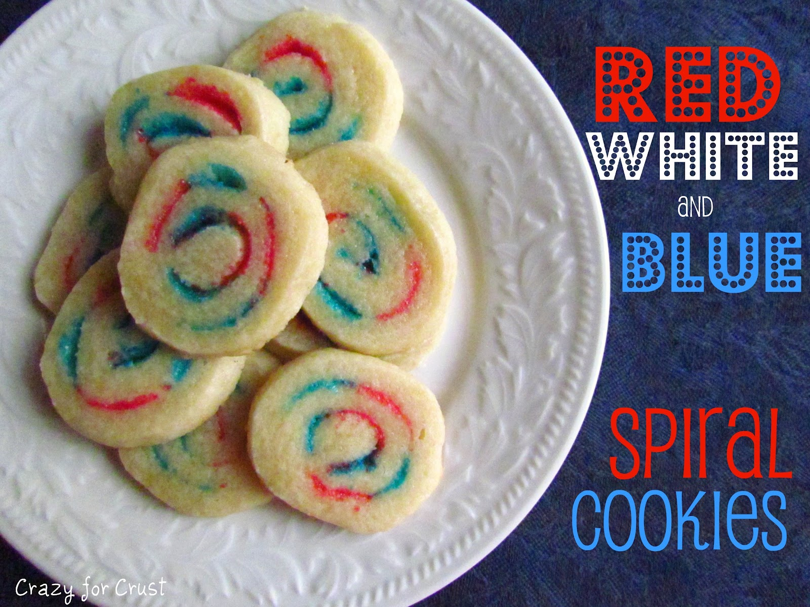 Recipe: Red, white and blue spiral sugar cookies