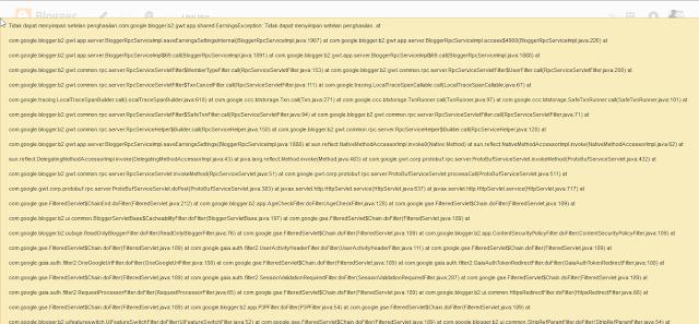 pesan adsense error di pengaturan blog