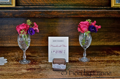 vintage glamour wedding purple magenta