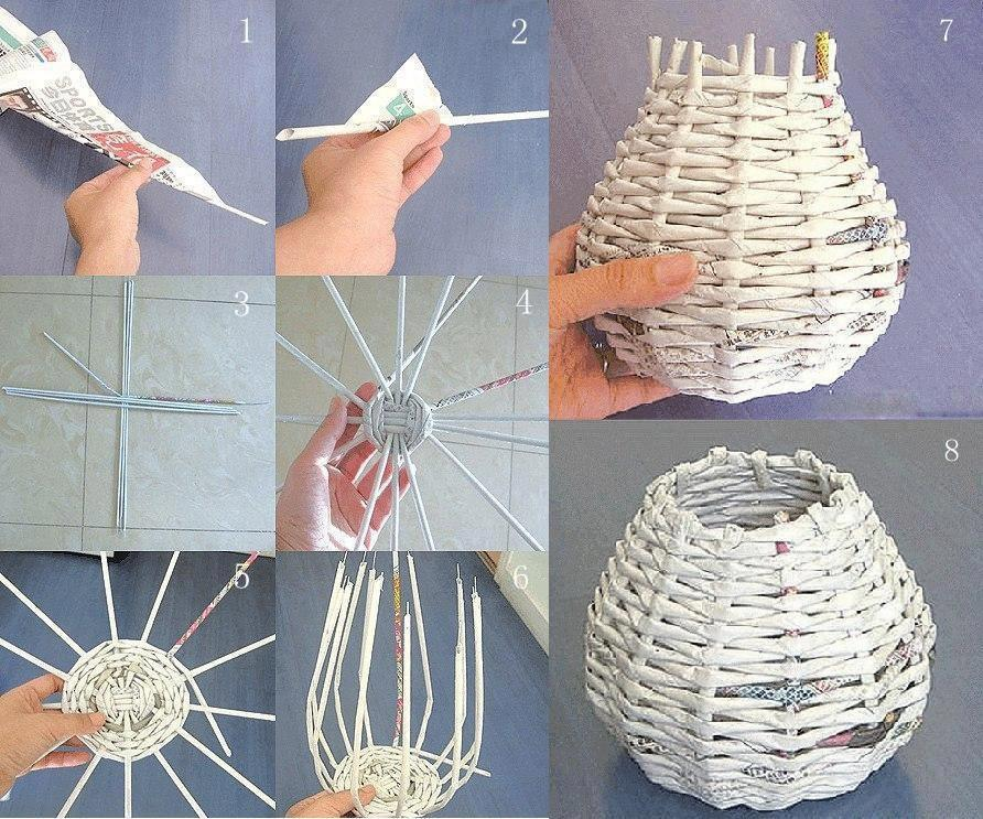 Cute magazine roll up art easy craft idea - How to reuse magazines seven inspired ideas ...