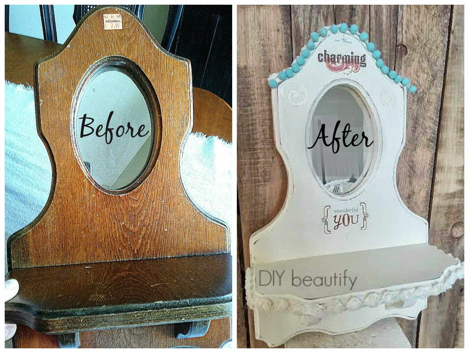 An Outdated Mirror Gets a Fresh and Fun Makeover