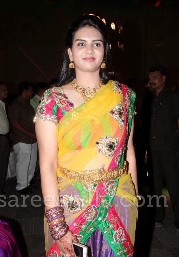 Guest In Designer Half Sarees