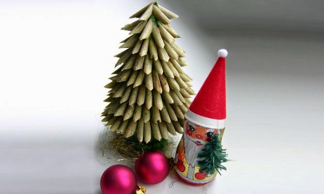 Decoracion de Navidad con Pasta