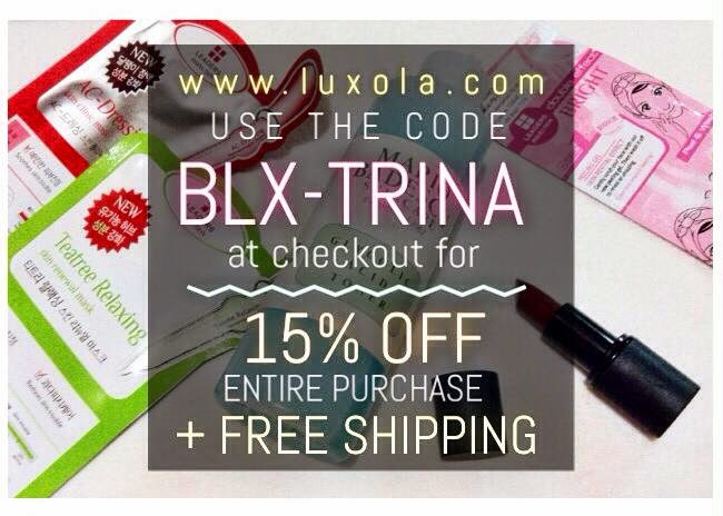15% OFF COUPON CODE (LUXOLA)